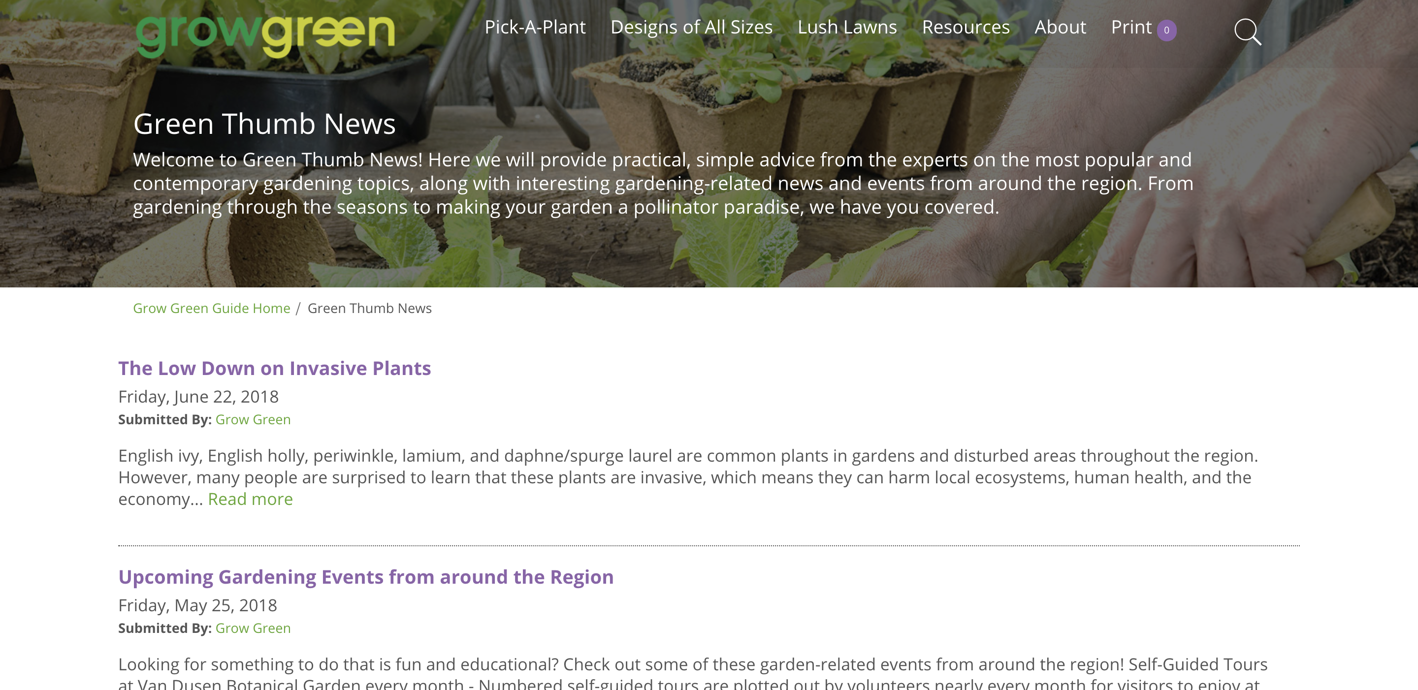 The Green Thumb News blog