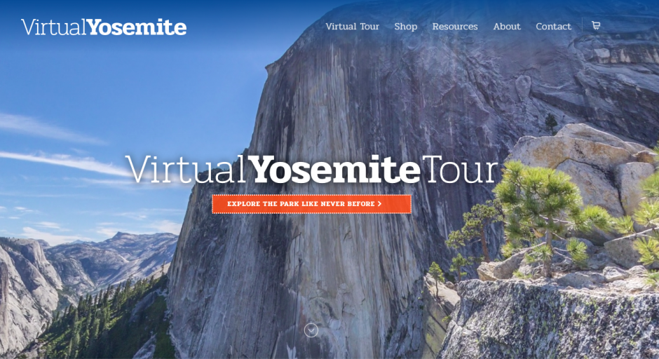 website image of Yosemite Tours - blue sky and mountain cliff