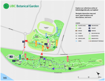 UBC Botanical Garden map