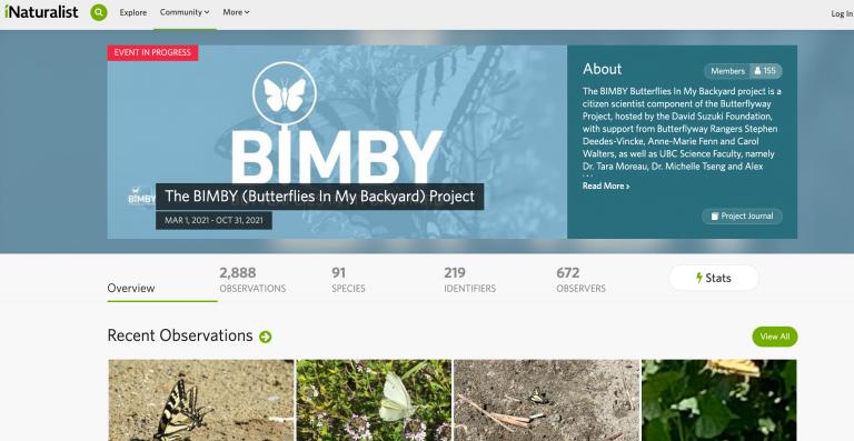 Citizen science website called iNaturalist