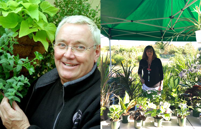 Hortline co-founder David Tarrant and current Chair Ronda Tuyp